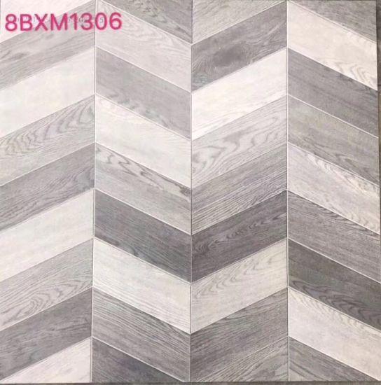 China 8bxm1306 New Arrival Herringbone Pattern Ceramics Rustic