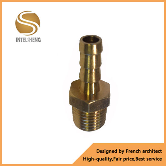1/8 NPT to 5/16 Brass Straight Hose Barb Fitting