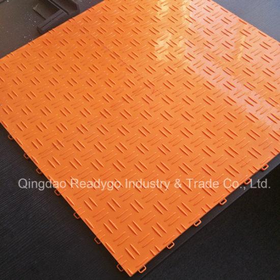 Diamond Garage Floor PP Flooring Sports Tile Outdoor Mat