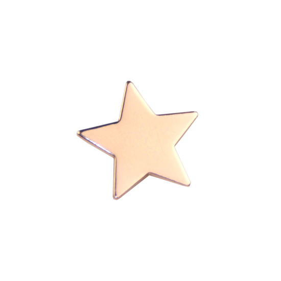 High Quality Funny Blank Gold Star Metal Badge