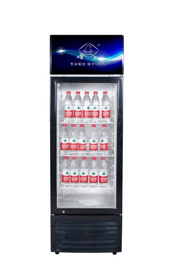 218L Commerical Upright Glass Door Display Refrigerator Showcase