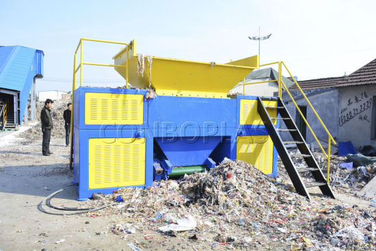 Plastic Granulator Pipe Film Wire Wood Lump Board Single Double Shaft Shredder pictures & photos