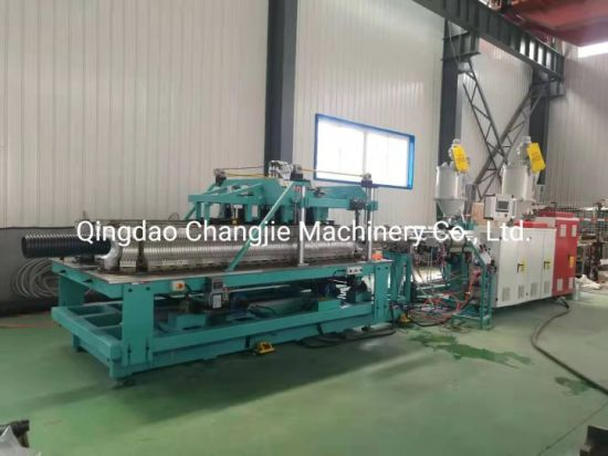 HDPE Plasctic Corrugated Pipe Extruder/Plastic Pipe Extrusion Line