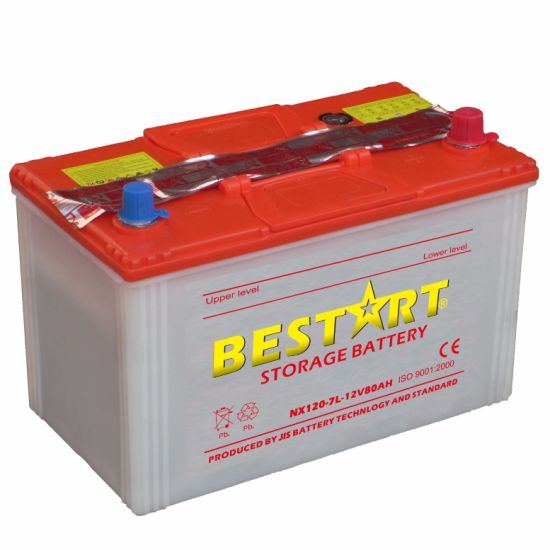 Nx120-7L 12V 80ah Dry Charged Car Battery pictures & photos