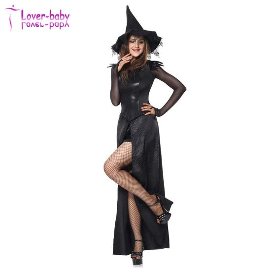 Black Adult Witch Costumes Sexy Halloween Cosplay Costumes L1194 pictures & photos