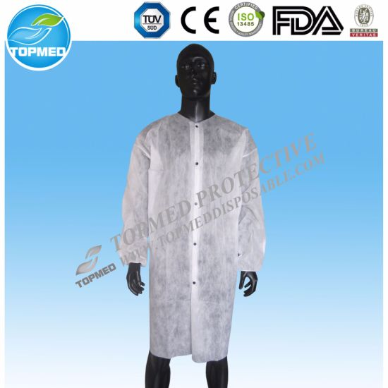 Disposable Medical Gown/Surgical Gown/Islation Gown/Lab Coat pictures & photos