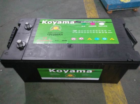 N200 Heavy Duty Batteries 12V200ah Car Accumulator for Vehicles pictures & photos