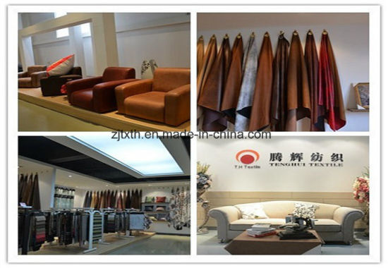 Embroidered Suede Fabric Supplier From Tongxiang Tenghui Textile Co., Ltd pictures & photos