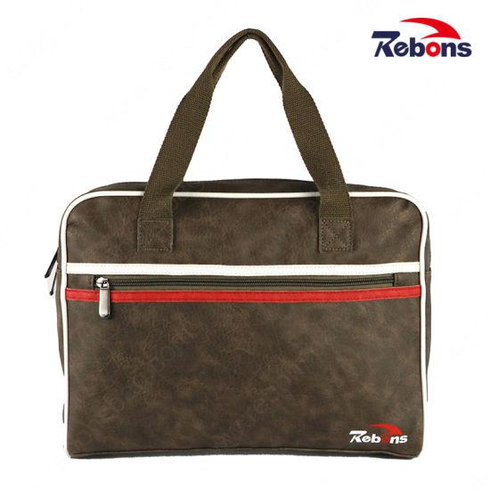 New Style PU Leather Business Laptop Single Shoulder Handbag for Men