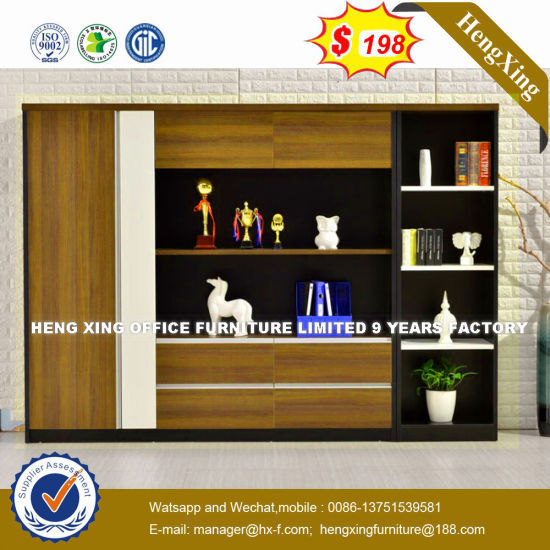 High Quality Stylish Metal White Plated Storage Office Bookcase (HX-8N1525) pictures & photos