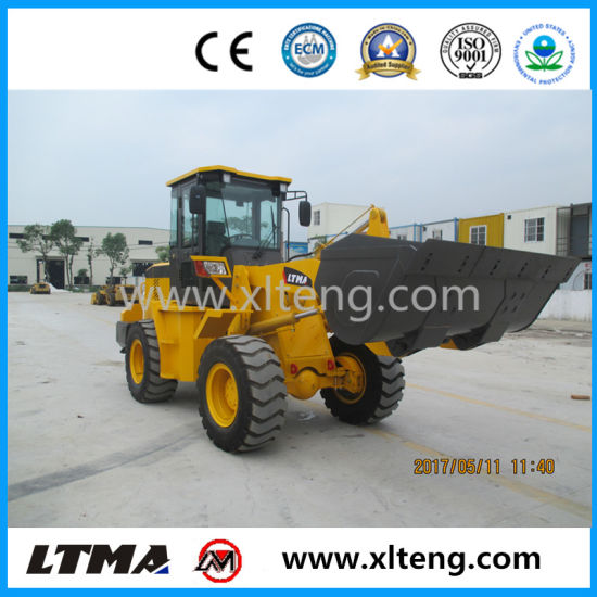Earth Moving Equipment 2t Articulated Mini Wheel Loader for Sale pictures & photos