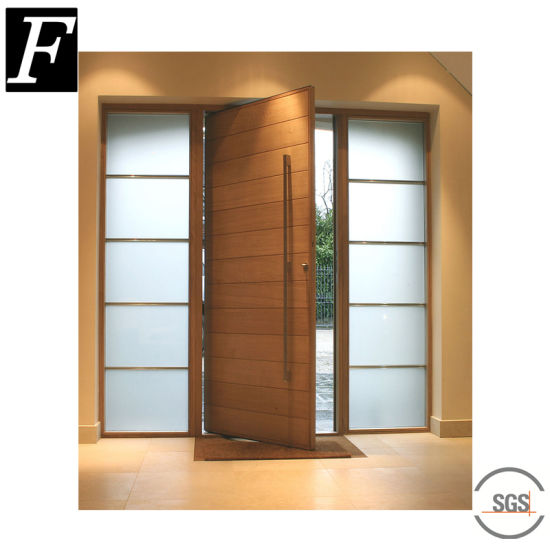 China American Modern Villa Exterior Front Entrance Doors With Glass