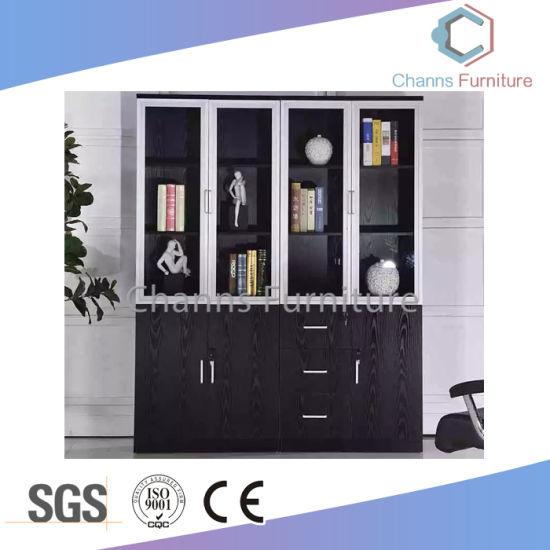Por 4 Doors Black Office Furniture Wooden File Cabinet Cas Fc31413