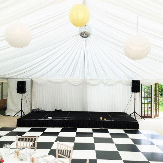 China Black and White Plywood Dance Floor DIY Portable Wedding Dance ...