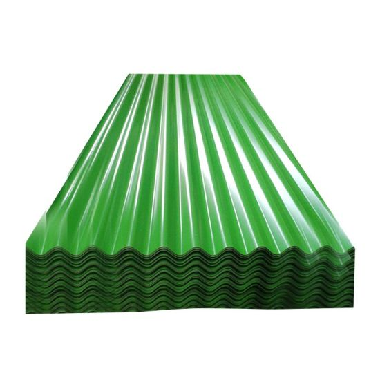 Building Material Prepainted Galvanized PPGL PPGI Color Coated Metal Roof Sheet Corrugated Steel Roofing Sheet for Ghana