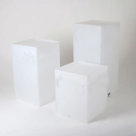 Exhibition Stand White : China multifunctional white acrylic pedestal plinth display stand