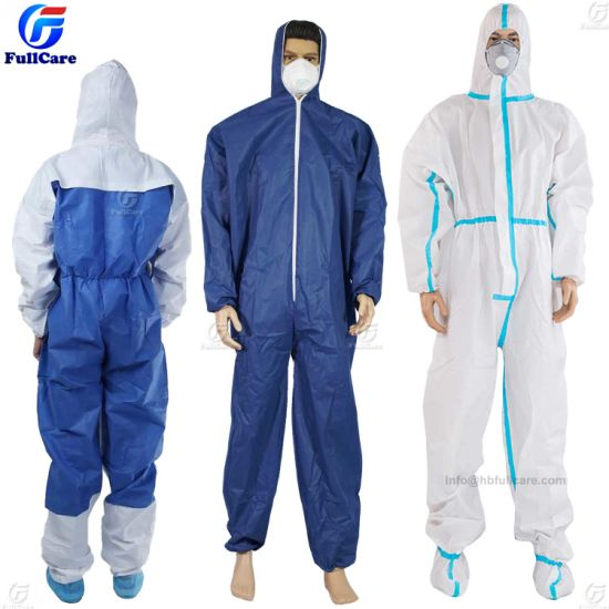 Tyvek/Type/5/6 Chemical/Microporous/Taped Seams PP/SMS/Industry/Hospital/Waterproof/Lab/Safety/Work/Boiler Suit/Disposable Nonwoven Protective Clothing Coverall