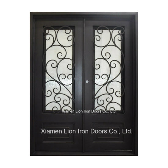 china modern grill iron gate design decorative metal entry doors