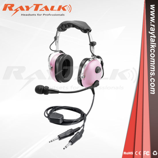 a41570dfda0 Ppilot Aviation Headset in Pnr Type Like David Clark Pnr Headset with  Dynamic Microphone in Pink