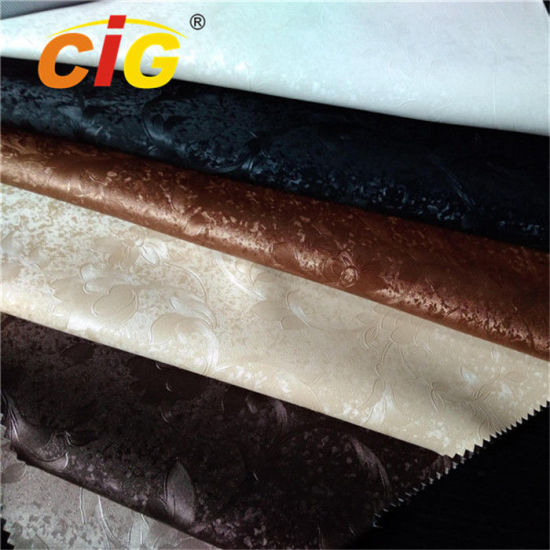 Waterproof PVC Synthetic Leather, Upholstery PVC Leather 0.6mm - 1.2mm Thickness