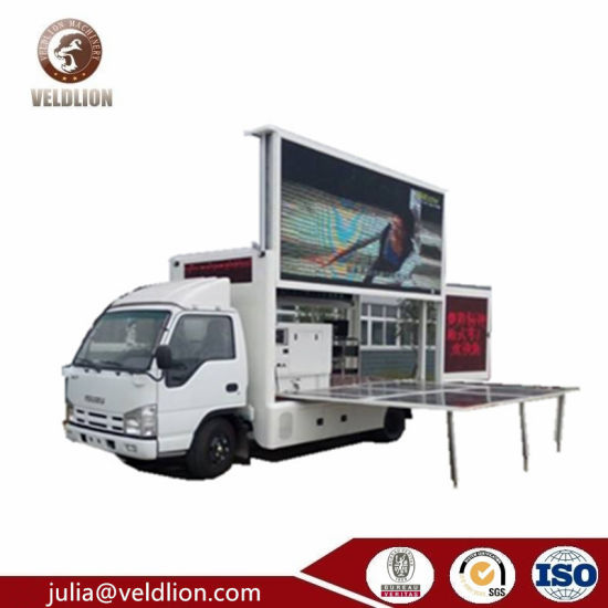 LED Video Advertising Vehicles, Moving LED Displays Truck Mounted Stage