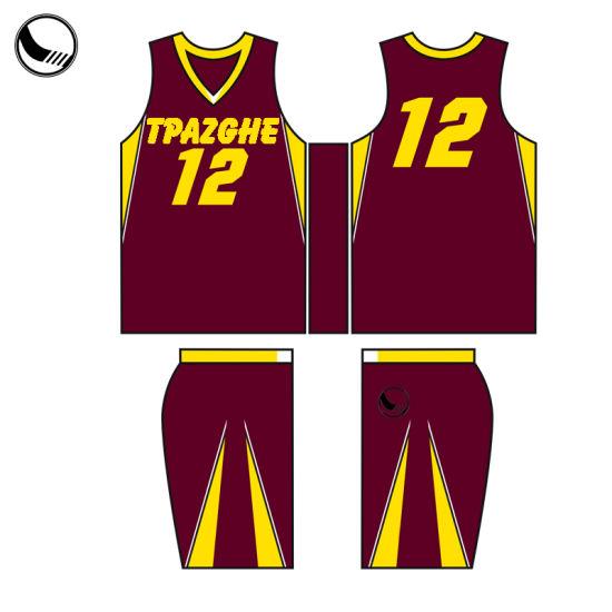 dead4568d1f0 Custom Sublimated Red Basketball Uniform Simple Design Basketball Jersey