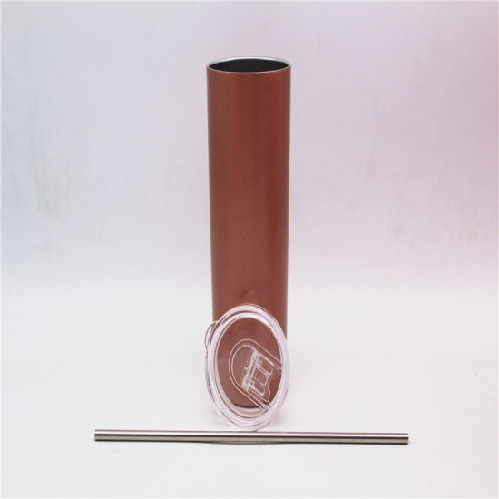 China 20 Oz Stainless Steel Skinny Tumbler with Lid and