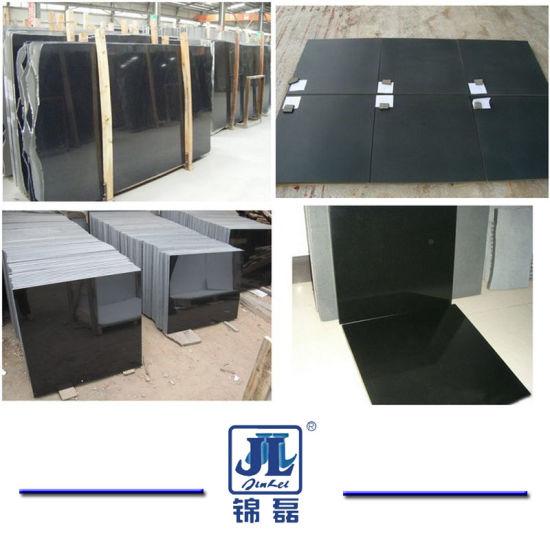 China Polished/Honed/Flamed Shanxi Absolute Black/Basalt/ Mongolia Black Granite for Floor/Wall/Countertop/Steps/Tombstone/Tiles/Paving/Vanity Top/Worktop