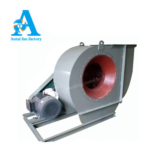 Belt Drive Induced Draft Industrial Centrifugal Exhaust Radial Fan with VFD and Damper for Boiler
