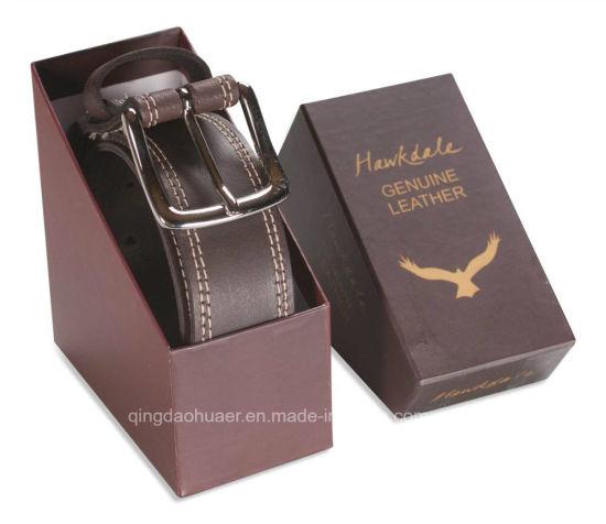 Custom Design Color Printed Belt Packaging Cardboard Paper Gift Box
