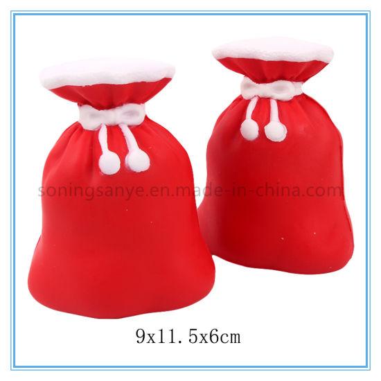 DTY0101 Christmas Bag Squishy Soft Anti Stress Slow Rising Toys