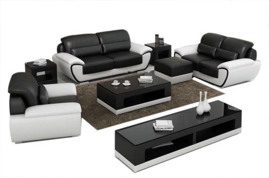 Foam Sofa Set With Genuine Leather