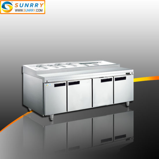 Stainless Steel Refrigerated Salad Display Counter