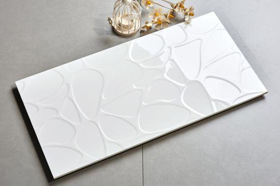 Foshan Mold Design White Wall Ceramic Tile for Washroom & Kitchen