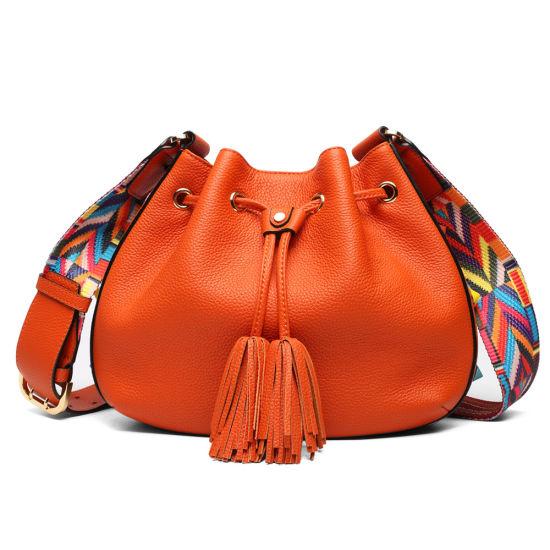 Genuine Leather Crossbody Bag Women Designer Cowhide Hobo Bag