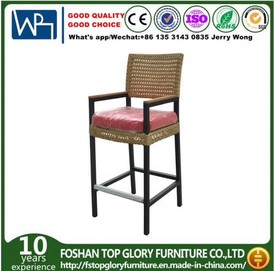 Modern Outdoor Wicker Bar Chair Rattan Weaving Bar Stool Pation Chair pictures & photos