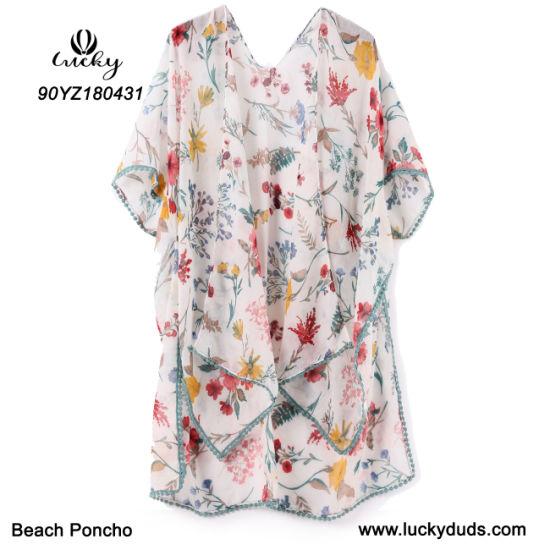 New Design Women Shawl Fashion Poncho Beach