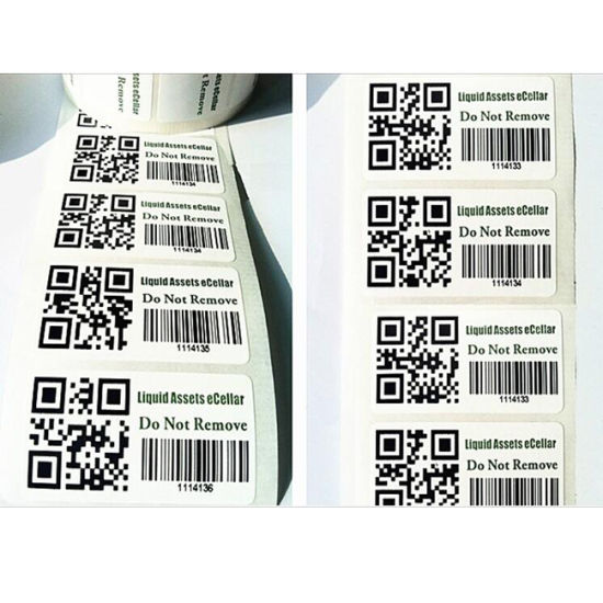 Cheap Price Custom A4 Paper Barcode Label/Sticker Printed Paper Labels