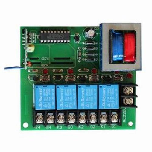 220V 4 Way Remote Control Receiver