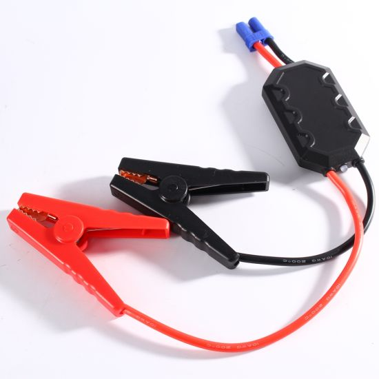 Peak Current 800A Car Jump Starter Lithium Battery Jump Cables pictures & photos
