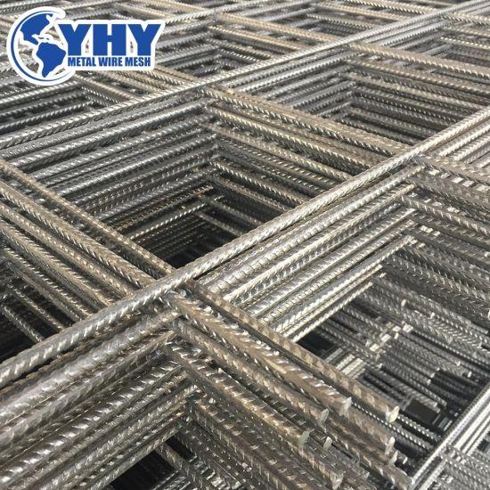 Raw Adge Rebar Steel Concrete Slab Welded Mesh Sheet For Cement Road