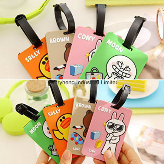 Personalized Luggage Tag Maker Wholesale Custom Logo Cheap Bulk Travel Airplane Soft PVC Luggage