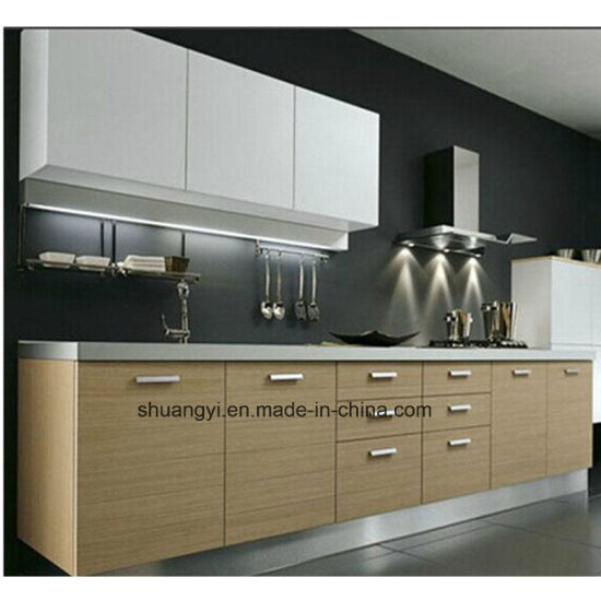 China Melamine Chipboard Modular Kitchen Cabinet - China Kitchen ...