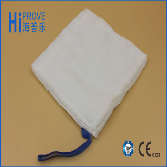 Medical Use Absorbent Gauze Lap Sponge with Blue Loop pictures & photos
