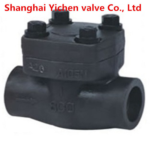 Forged Steel Spring Lift High Temperature Thread Check Valve pictures & photos