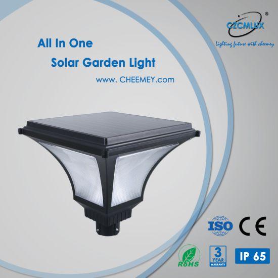 12W New Design LED Solar Garden Light with Lithium Battery