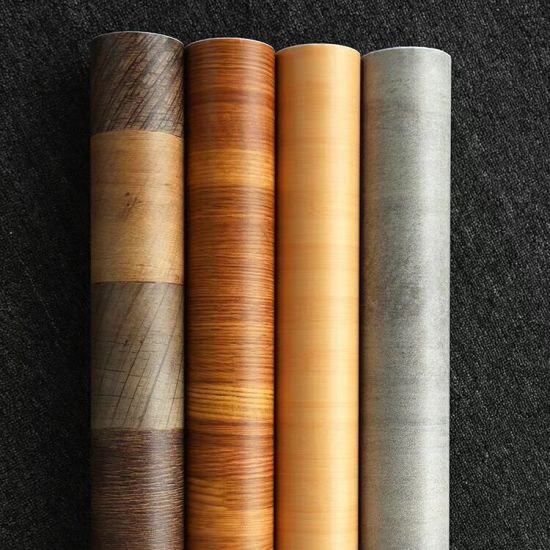 China Pvc Wooden Textured Decorative, Vinyl Sheets For Furniture