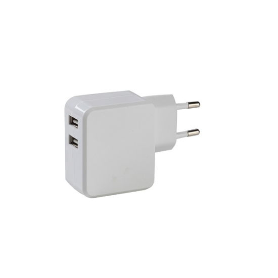 Ce 3.4A EU Double USB Charger for Smart Device