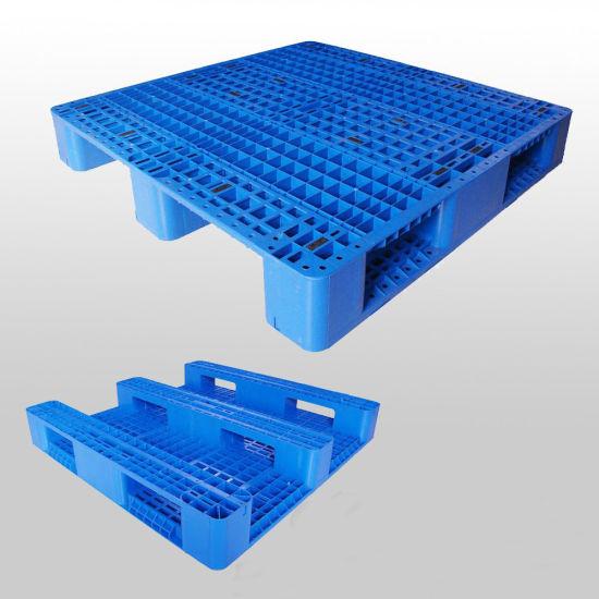 HDPE Returnable 1100*1100 Single Plastic Pallets Manufacturer for Sale