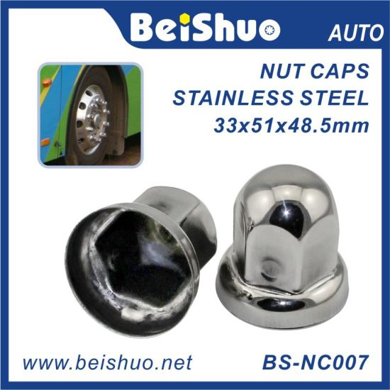 "Beishuo 33mm (1-5/16"") Stainless Steel Wheel Lug Nut Cover for Truck and Bus"